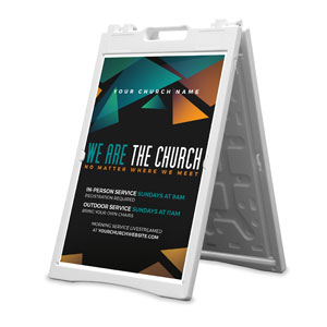 We Are The Church 2' x 3' Street Sign Banners