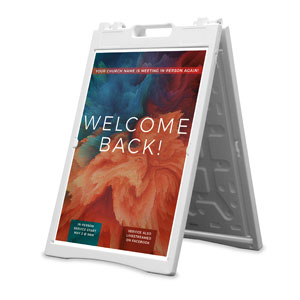 Welcome Back Burst 2' x 3' Street Sign Banners