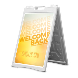 Welcome Back Yellow 2' x 3' Street Sign Banners