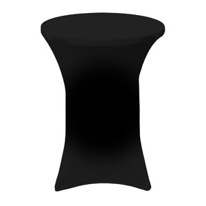 Plain Black Stretch Table Covers