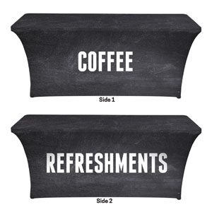 Slate Coffee Refreshments Stretch Table Covers