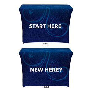 Flourish New Here Start Here Stretch Table Covers