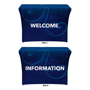 Flourish Welcome Information Stretch Table Covers