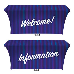 Modern Stripes Welcome Information Stretch Table Covers