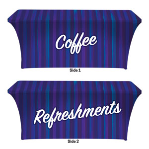 Modern Stripes Coffee Refreshments Stretch Table Covers