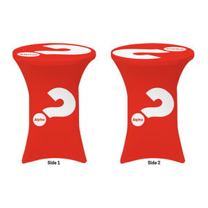 Alpha Red Stretch Table Covers
