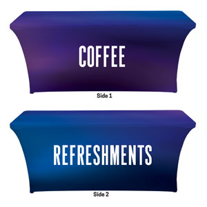 Aurora Lights Coffee Refreshments Stretch Table Covers