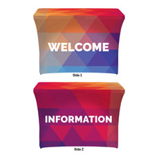 Geometric Bold Welcome Information