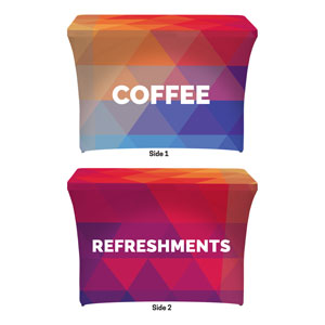 Geometric Bold Coffee Refreshments Stretch Table Covers