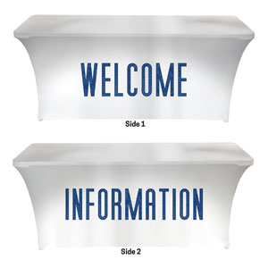 Connected Welcome Information Stretch Table Covers
