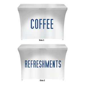 Connected Coffee Refreshments Stretch Table Covers