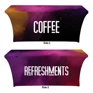 Dark Smoke Coffee Refreshments Stretch Table Covers
