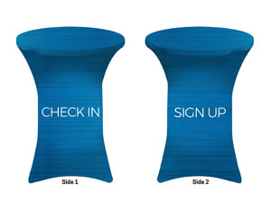 General Blue Sign Up Check In Stretch Table Covers