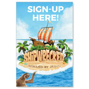 Shipwrecked Sign Up StickUp
