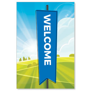 Bright Meadow Welcome Banners