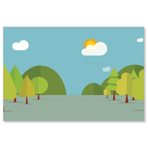 Woodland Friends Wall Scene Banners