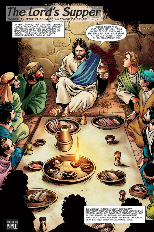 The Action Bible Lord S Supper Banner Church Banners