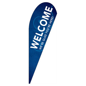 Flourish Welcome Teardrop Flag Banners