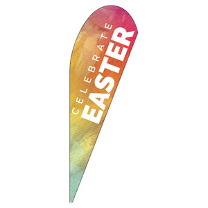 Easter Orange Brush Strokes Banners