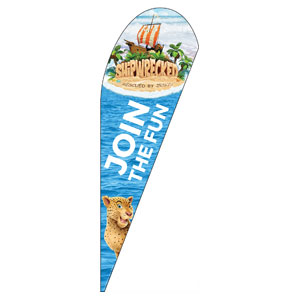 Shipwrecked Teardrop Flag Banners