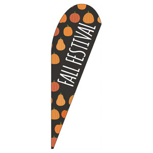 Pumpkins Hand Drawn Fall Festival Teardrop Flag Banners