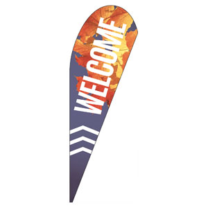 Chevron Welcome Fall Teardrop Flag Banners