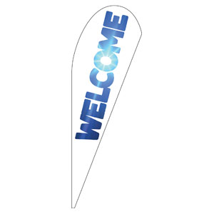 Welcome Sky Teardrop Flag Banners