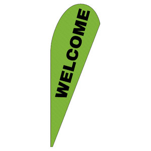 Grand Opening Invite Green Teardrop Flag Banners