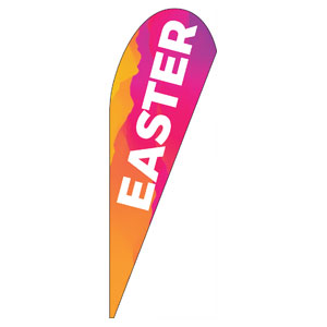 Easter Event Date Teardrop Flag Banners