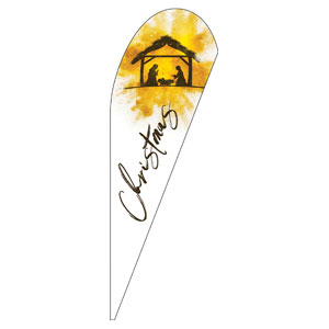 Gold Powder Creche Teardrop Flag Banners