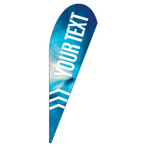 Chevron Blue Your Text Teardrop Flag Banners