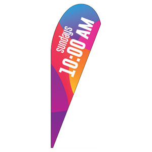 Curved Colors 10 AM Teardrop Flag Banners