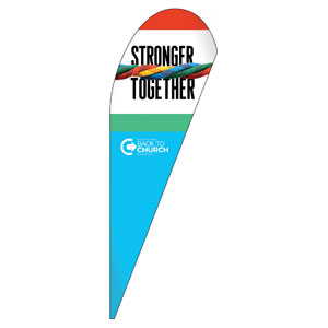 BTCS Stronger Together Teardrop Flag Banners