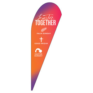 Easter Together Hues Teardrop Flag Banners