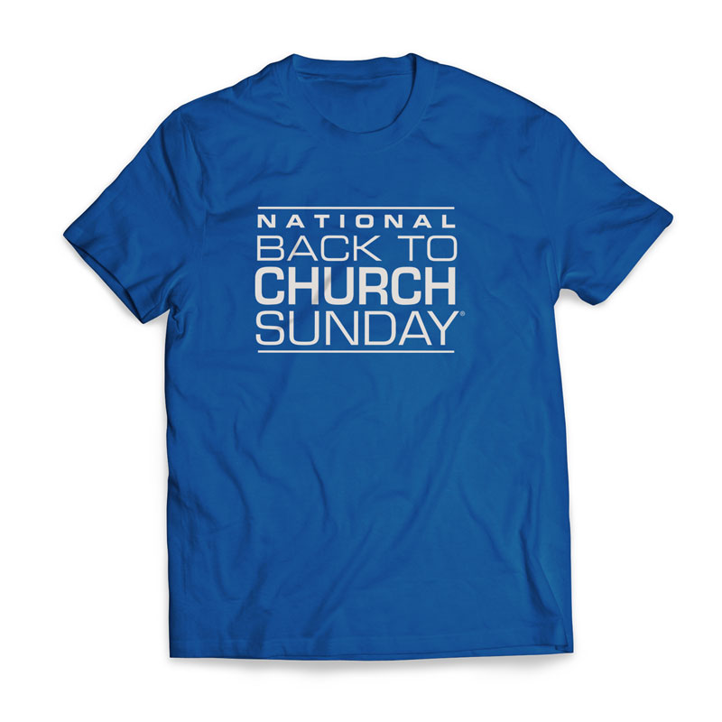 T-Shirts, Back To Church Sunday, Back To Church Logo - Large, Large (Unisex)