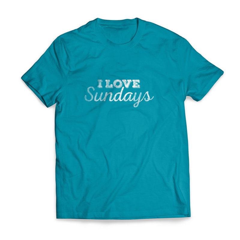 6d527116d I Love Sundays T-Shirt - Church Apparel - Outreach Marketing