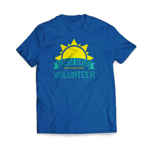 Sunrise Service Volunteer T-Shirts