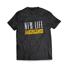 Church Name Yellow T-Shirt
