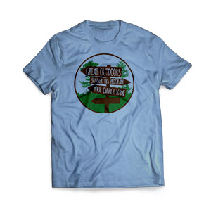 Great Outdoors - Large Customized T-shirts