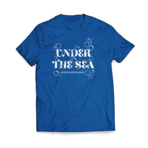 Sea Bubbles - Large Customized T-shirts
