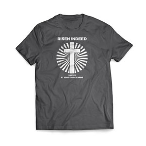 Risen Indeed Cross - Large Customized T-shirts
