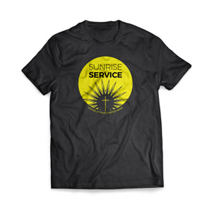 Sunrise Service Circle - Large Customized T-shirts