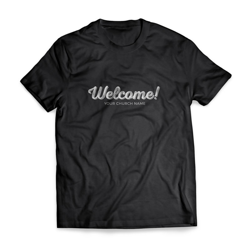Welcome Greeter T Shirt Church Apparel Outreach Marketing