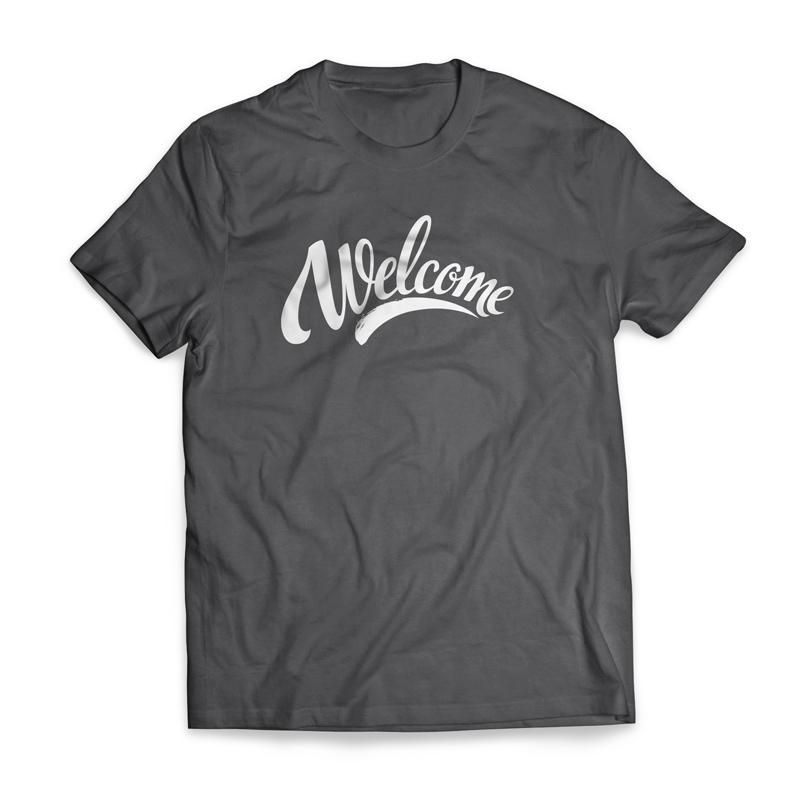 a77fa048b1cee Welcome Cursive T-Shirt - Church Apparel - Outreach Marketing