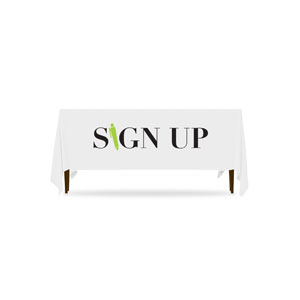 Icon Sign Up Table Throws