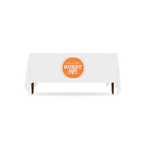 Guest Circles Info Orange Table Throws