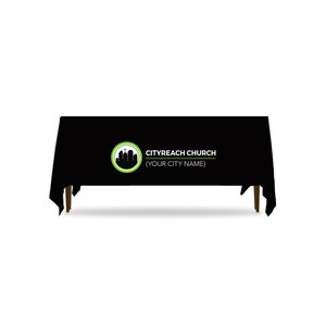 CityReach Black Table Throws