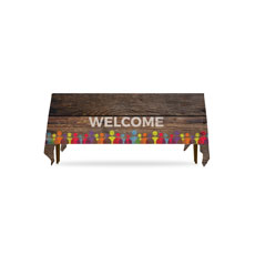 Shiplap Welcome Natural Table Throw