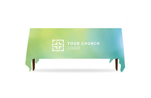 Logo Greens and Blues Table Throws