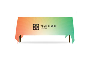 Logo Orange and Green Table Throws